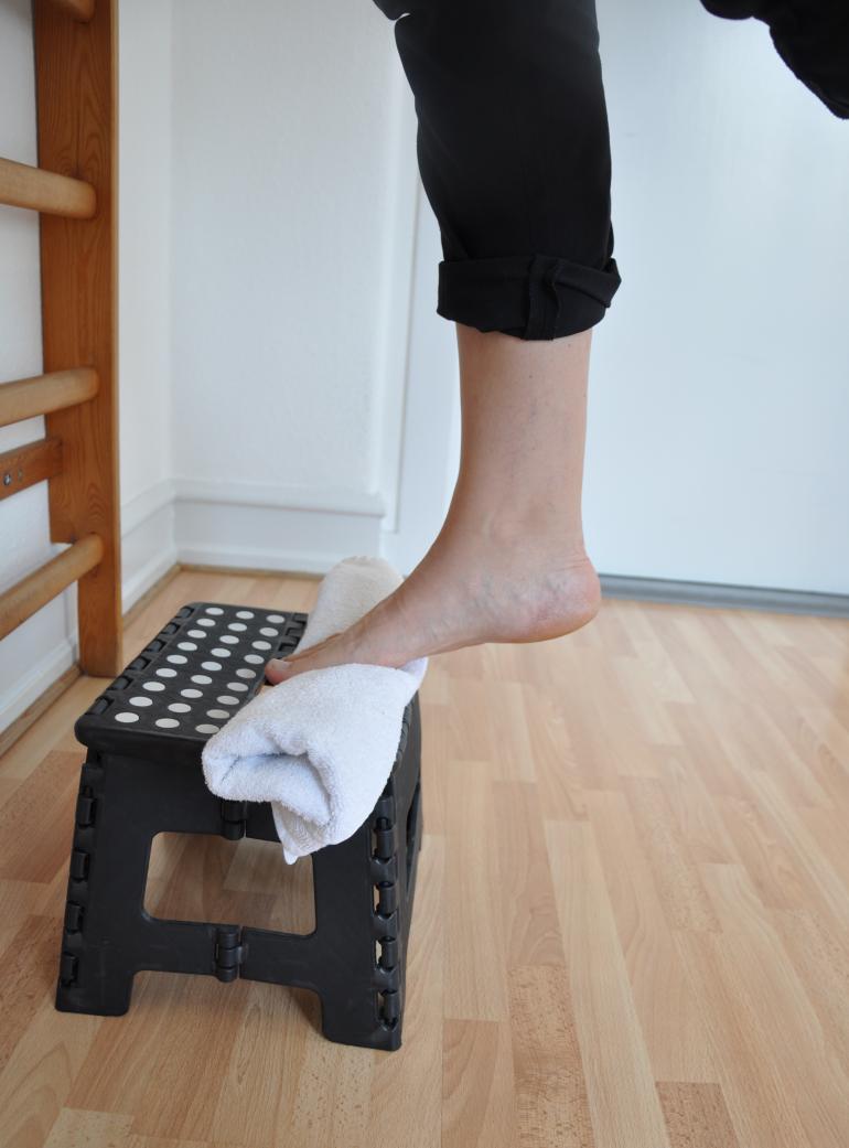 Hælsmerte træningsøvelse