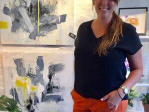 Lokal Kunstner Mia Lyngbye i Kiropraktisk Klinik Vanløse