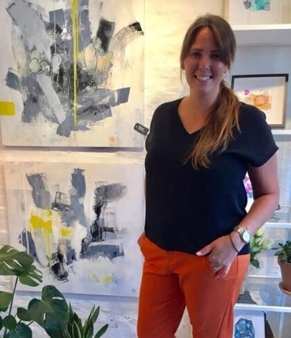 Lokal Kunstner Mia Lyngbye i Kiropraktor|dk Vanløse